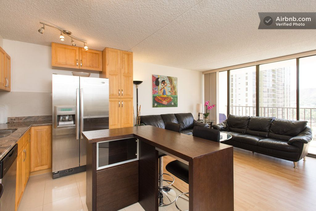 Spacious 1bd Suite in popular Waikiki Banyan Condo-Hotel. Sleeps 4 Recently refreshed with new paint and tastefully decorated. Sleeping arrangement are 1 King and 1 full size bed,1 sofa/futon block from the beach and main strip, Free Parking & WiFi www.hihomesintl.com
