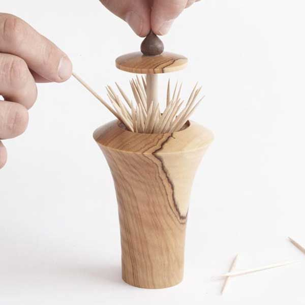 Pop Up Toothpick Dispenser Woodworking Plan, Turning Projects Gifts U0026  Decorations Kitchen Accessories