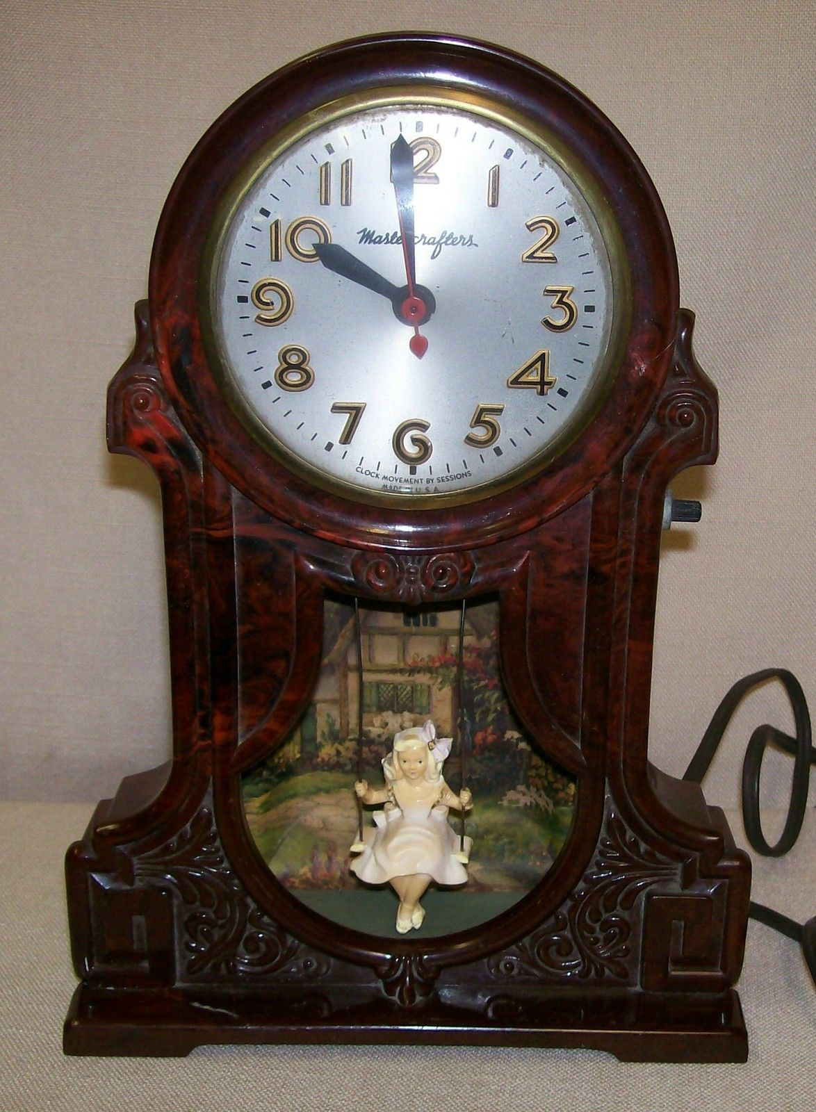 Cool Cuckoo Clocks Mastercrafters Girl In Swing Clock As Time Goes By