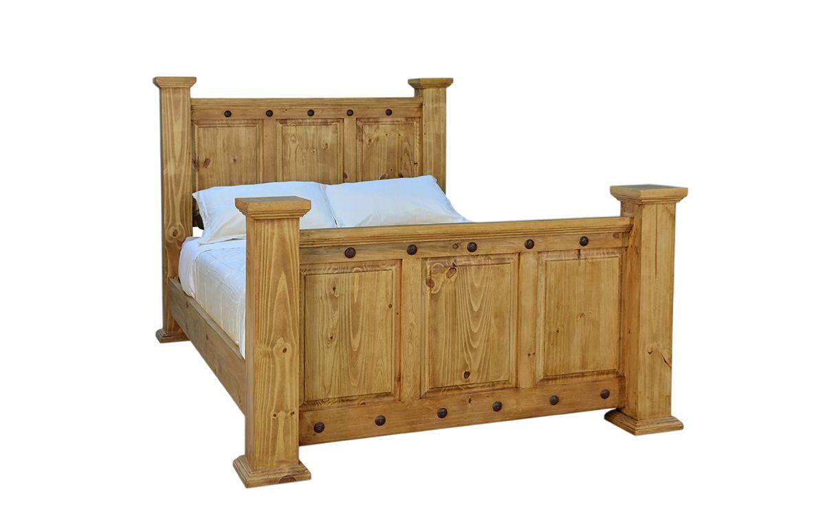 Rusticos Sierra Traditional Hacienda Queen Bed Furniture Market Austin Texas