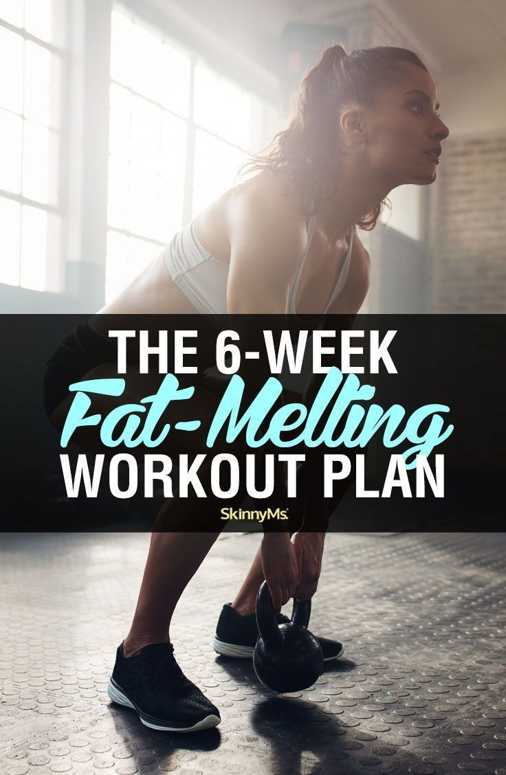 In less than 30 minutes a day, you'll slim down and shape-up with this 6-week fat-melting workout pl...
