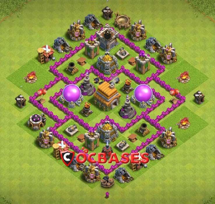Base Coc Th 6 Terbaik 4