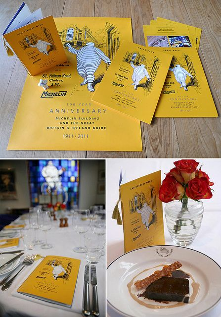 Design for 100th Anniversaries of the Michelin Guide and Michelin House, London by Rock Kitchen Harris