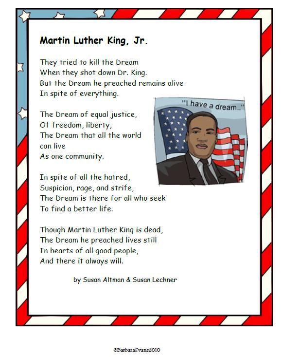 MLK, Jr. Day Poem & Timeline