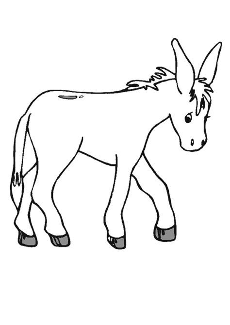 Donkey Coloring Page Coloring Pages For Kids Kids Printable Coloring Pages Animal Coloring Books