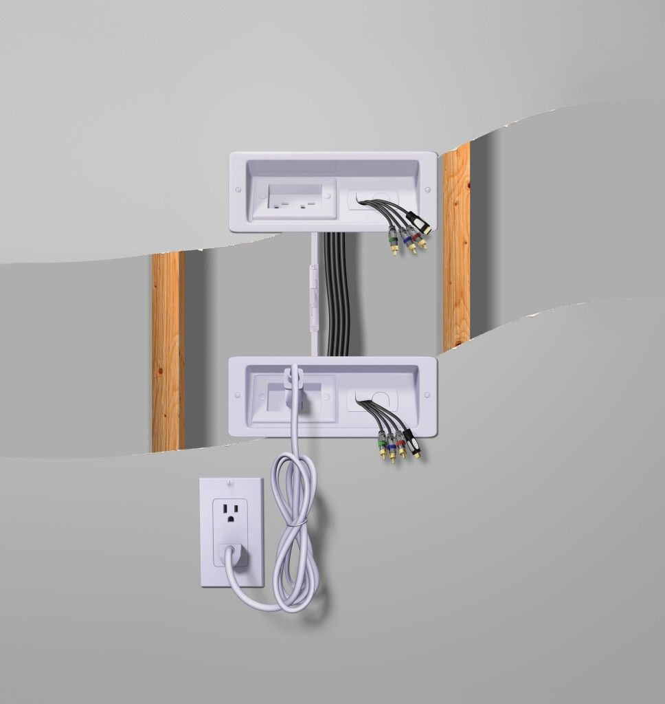 How to hide those ugly wires with a good TV cable-management system and TV  wall mount.