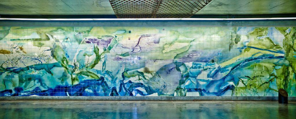 Zoo Wou-Ki | Estação / Station Oriente | Metropolitano de Lisboa / Lisbon Underground | 1996-1998 #Azulejo #ZooWouKi #MetroDeLisboa