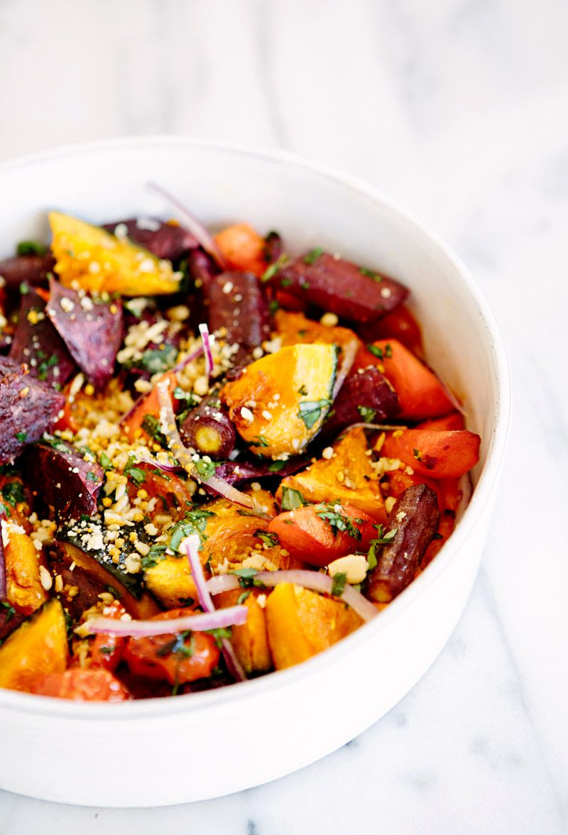Roasted veggie rainbow bowl via a house in the hills make roasted veggie rainbow bowl via a house in the hills make without the bee pollen clean food recipesdelicious forumfinder Choice Image