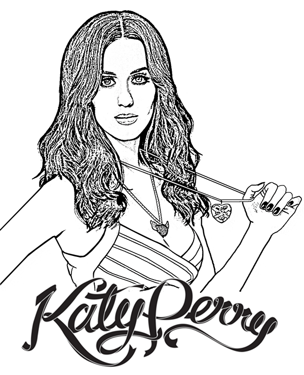 Katy perry coloring page for children and adults download and print for free on topcoloringpages net