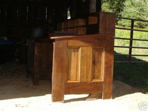 Antique One-of-a Kind Walnut Postal Desk, Pigeon Holes (10/14/2007)