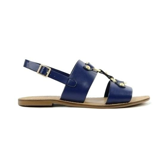 b9dd20f63e4a Related image Navy Blue Flat Sandals