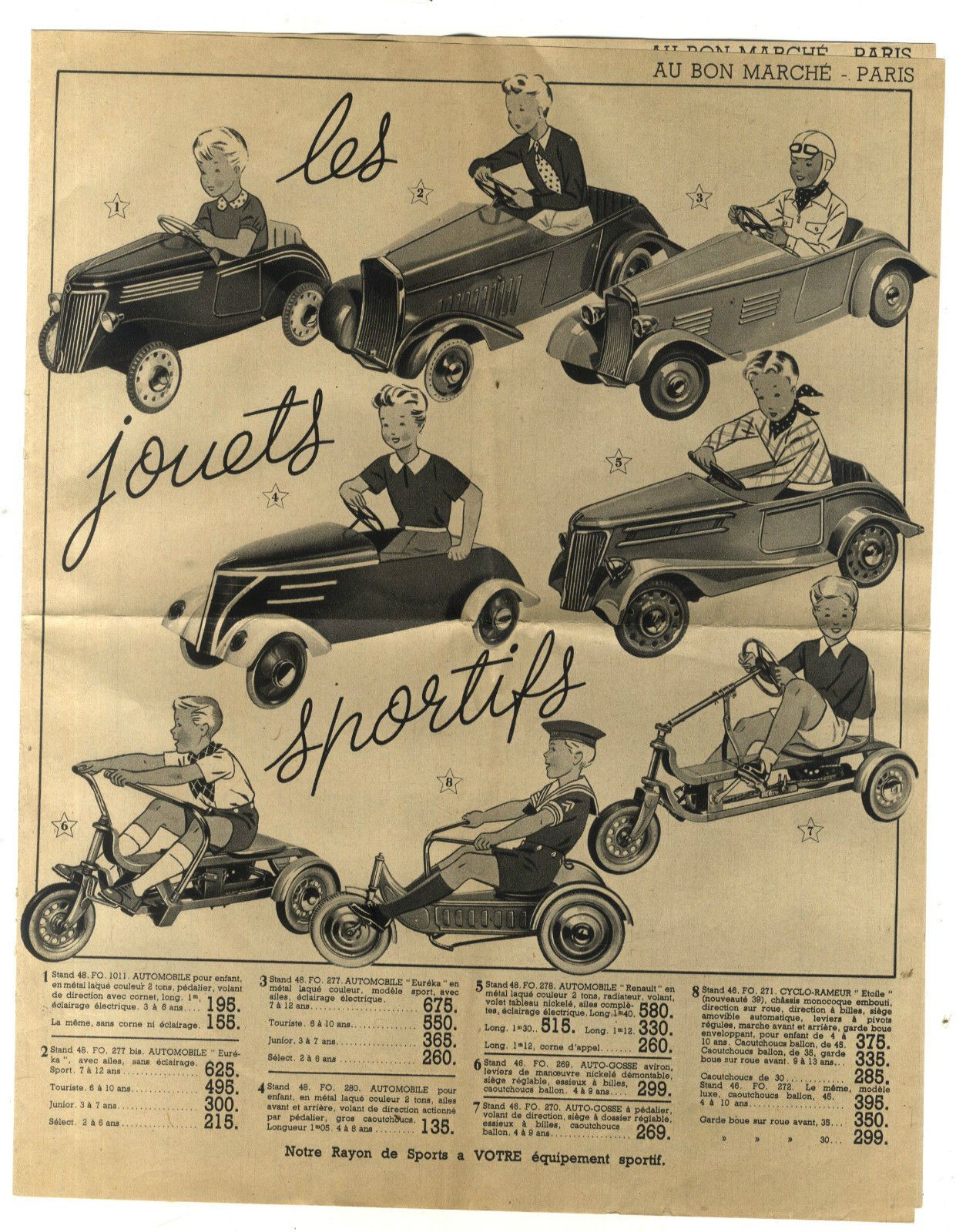 catalogue ancien au bon marche paris jouet sportif voiture cheval tir au pigeons ebay abba. Black Bedroom Furniture Sets. Home Design Ideas