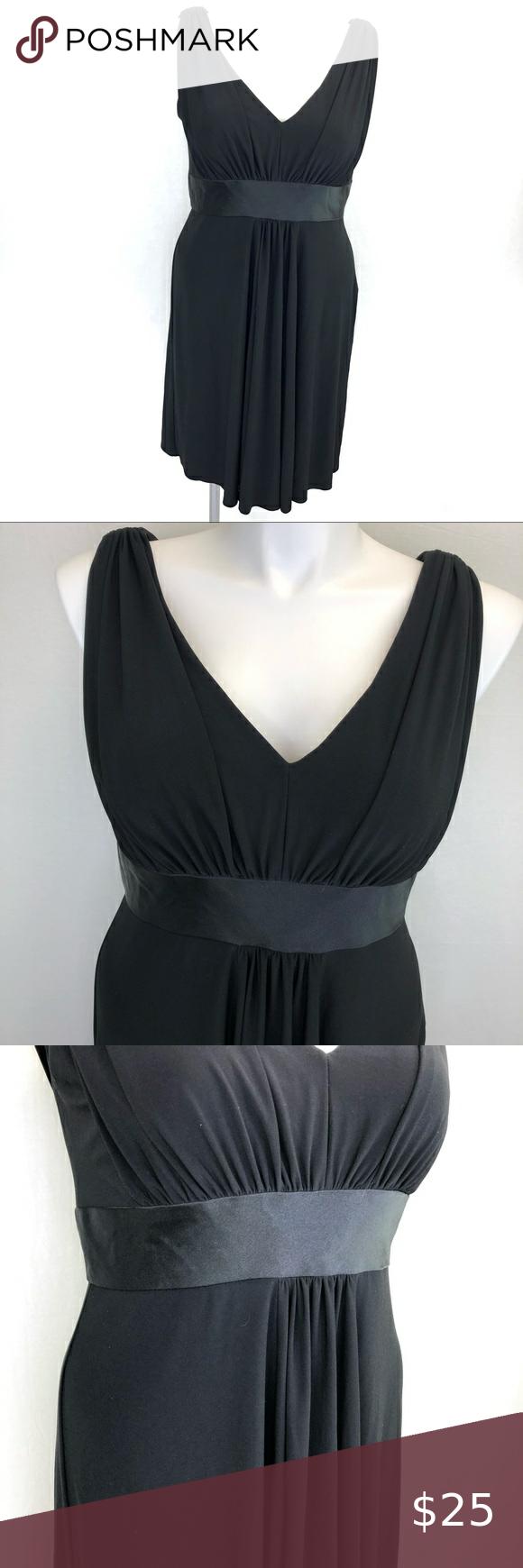Jones Wear V Neck Dress Black Size 16 Gorgeous Black Dress By Jones Wear V Neck With A Layered Look And Pleat Gorgeous Black Dress Black Dress V Neck Dress [ 1740 x 580 Pixel ]