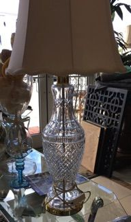 waterford tramore collection crystal table lamp adds elegance and