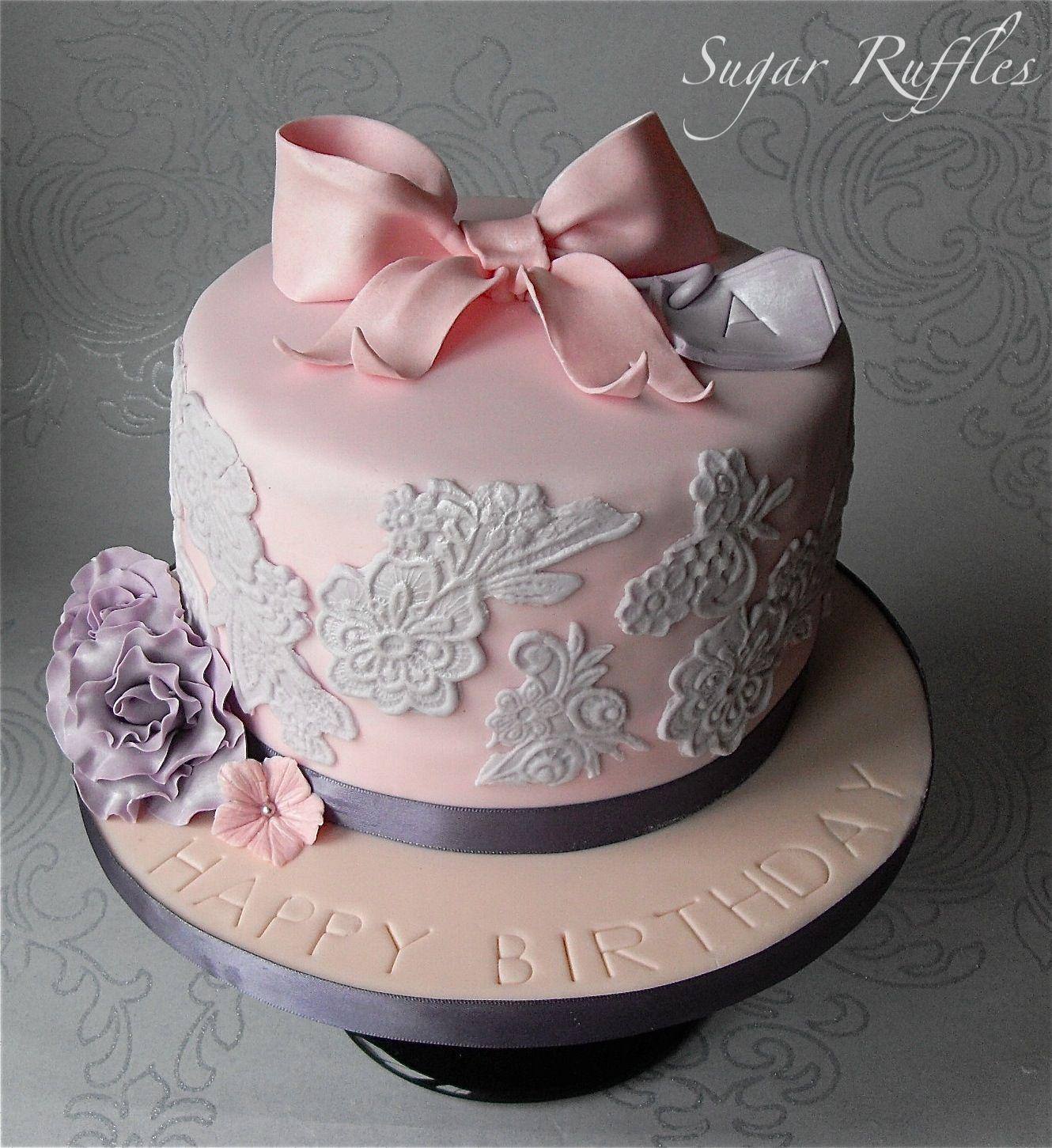 Elegant Happy Birthday Pink