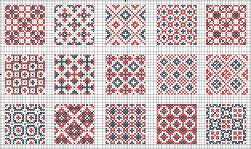 All Over Patterns for cross stitch or knitting | gancedo.eu