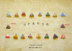 選べる三角ピアス by オランジェ アクセサリー ピアス