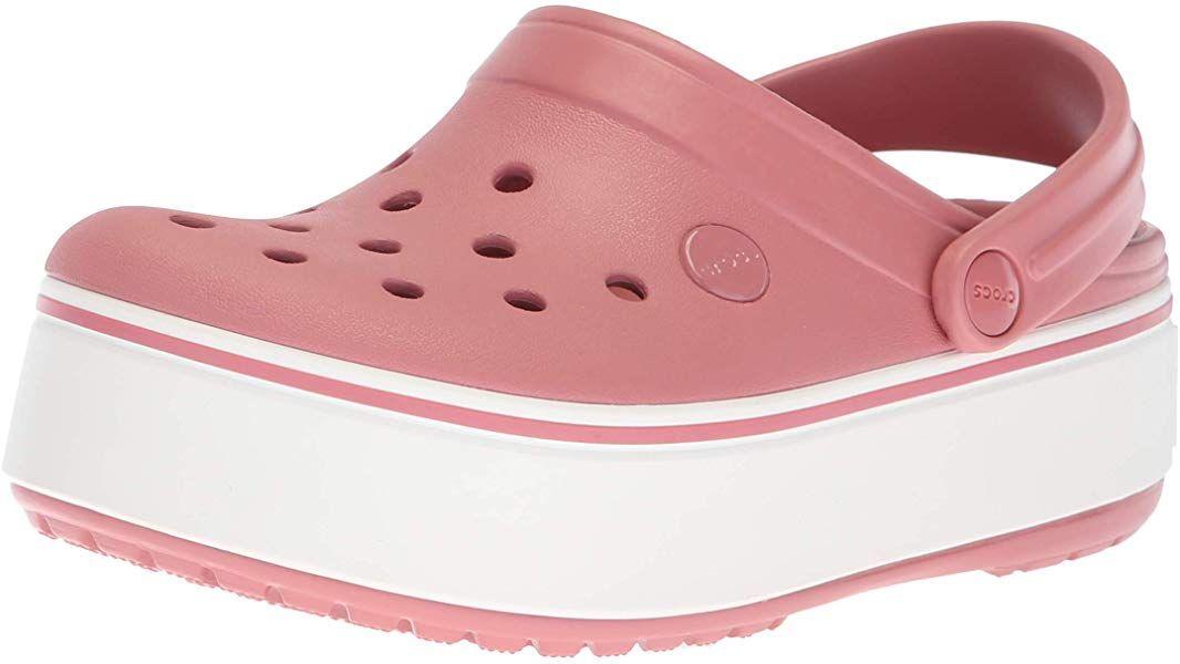 9aa202daa3326 Amazon.com | Crocs Crocband Platform Clog Blossom/White 3 US Men / 5 ...