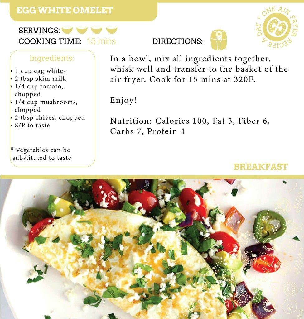 Air Fryer Egg White Omlet Recipe Omlet Recipes Healthy