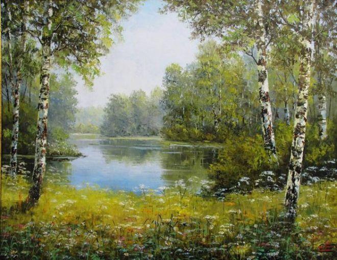 искусство | Картины с видами природы, Садово-парковое ...