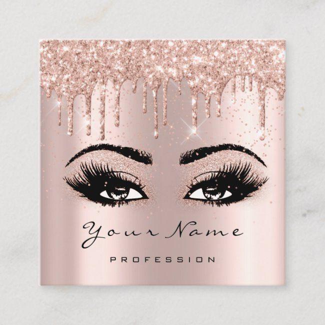 makeup artist event planner glitter eyelash square square