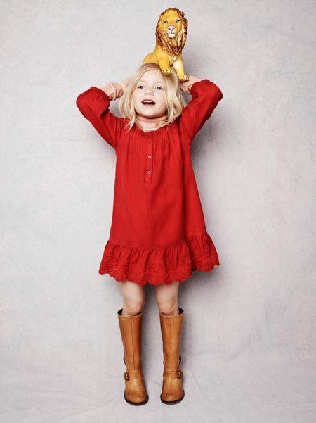 592b33e5d0886 Robe rouge Vanessa Bruno pour la Redoute enfant