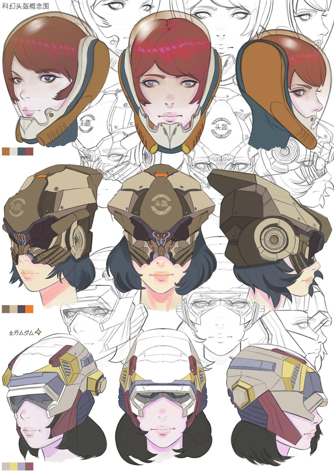 Helmet Helmet Anime Design Anime character design theme wallpaper. helmet helmet anime design