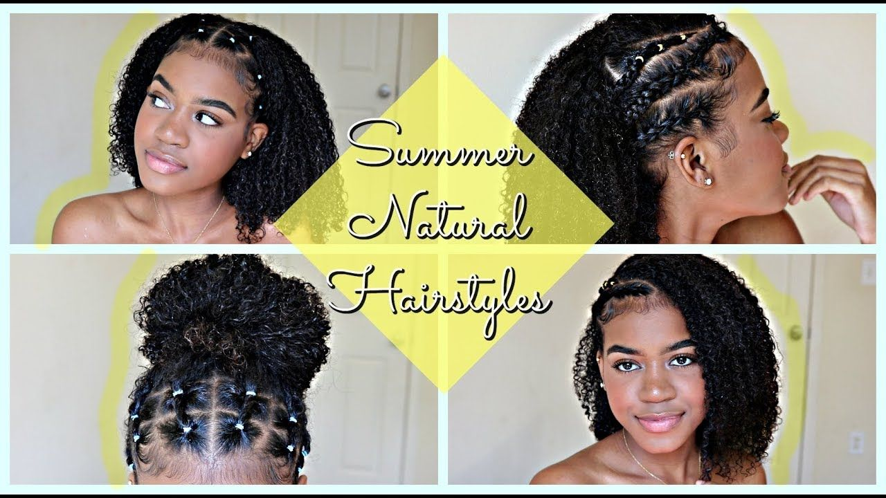 Summer Hairstyles For Natural Curly Hair 2018 Part 1 Youtube Curly Hair Styles Naturally Curly Hair Styles Hair Styles