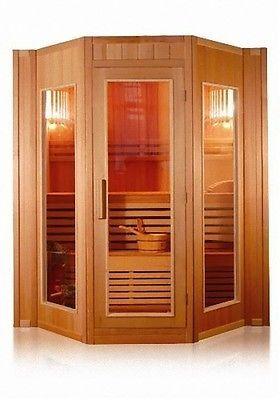 Dettagli Su Sauna Finlandese L200x208x200h Per 5 Persone