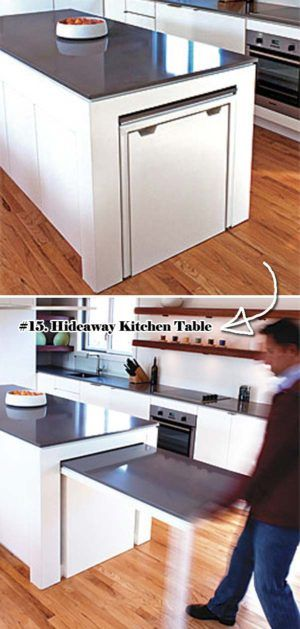 Hideaway Kitchen Table Built In Diy Home Projects 15 Nifty Tiny House Or Anythijg Type Of