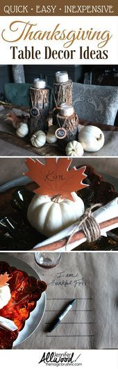 Thanksgiving fall table ideas ,  #Fall #ideas #inexpensivethanksgivingdecoration…