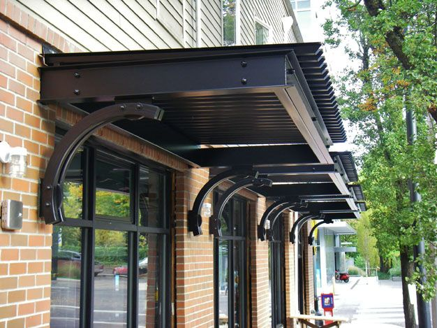 Metal Awning Commercial Signage Metal Awning Backyard Canopy Patio Canopy