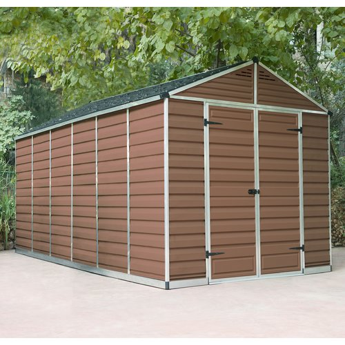 Palram Skylight 8 Ft W X 17 Ft D Apex Polycarbonate Shed Plastic Sheds Apex Shed Shed