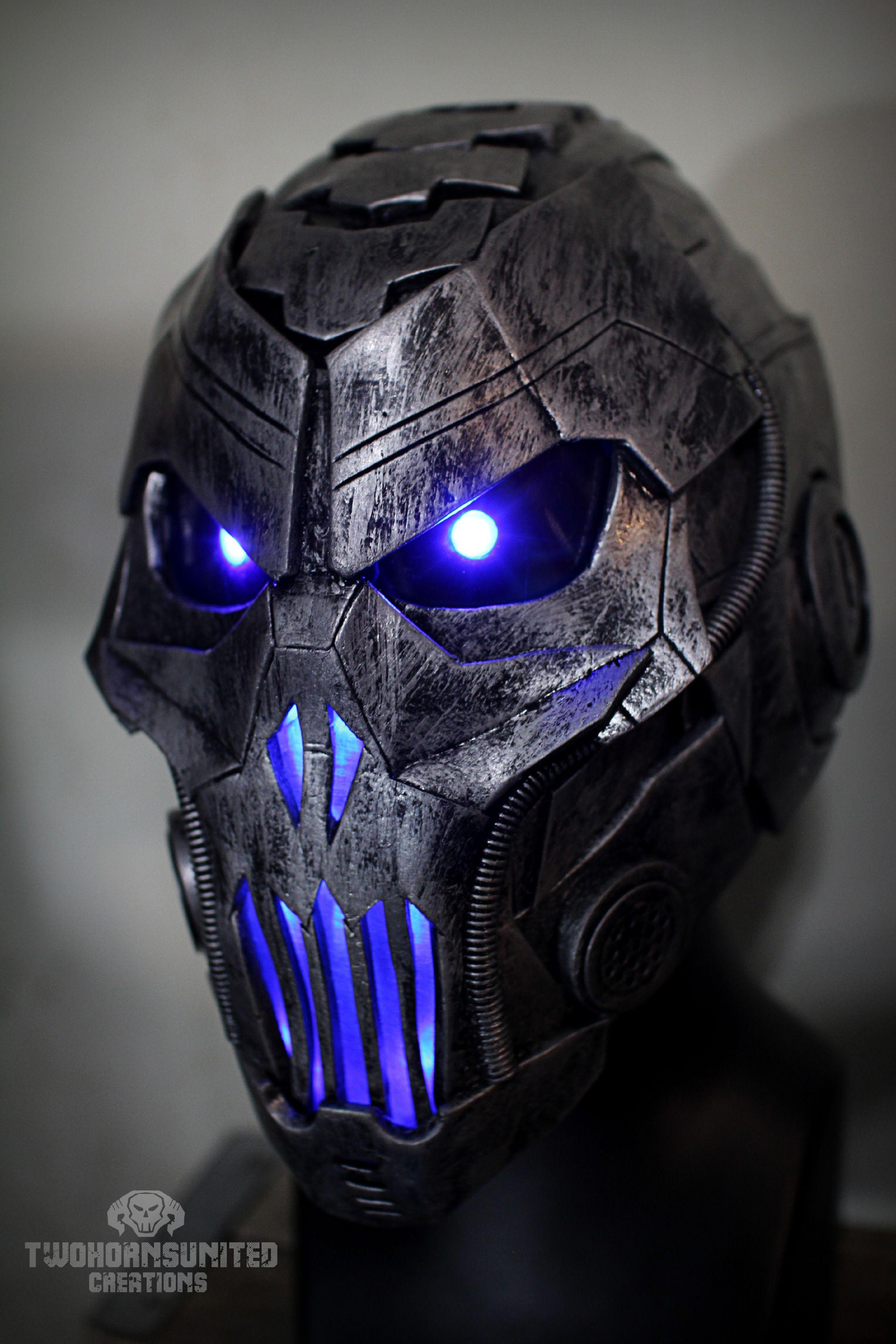 The Grave Ender V1 0 Light Up Cyber Dj Helm By