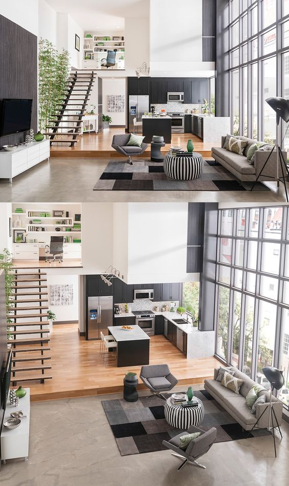 4 Lofts Duplex Avec Des Fenêtres Massives