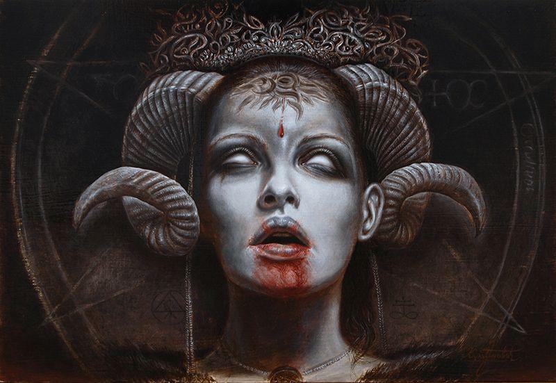 """""""Goddess (oil on panel)"""" by KaradjinovicMarko.deviantart.com on @DeviantArt"""