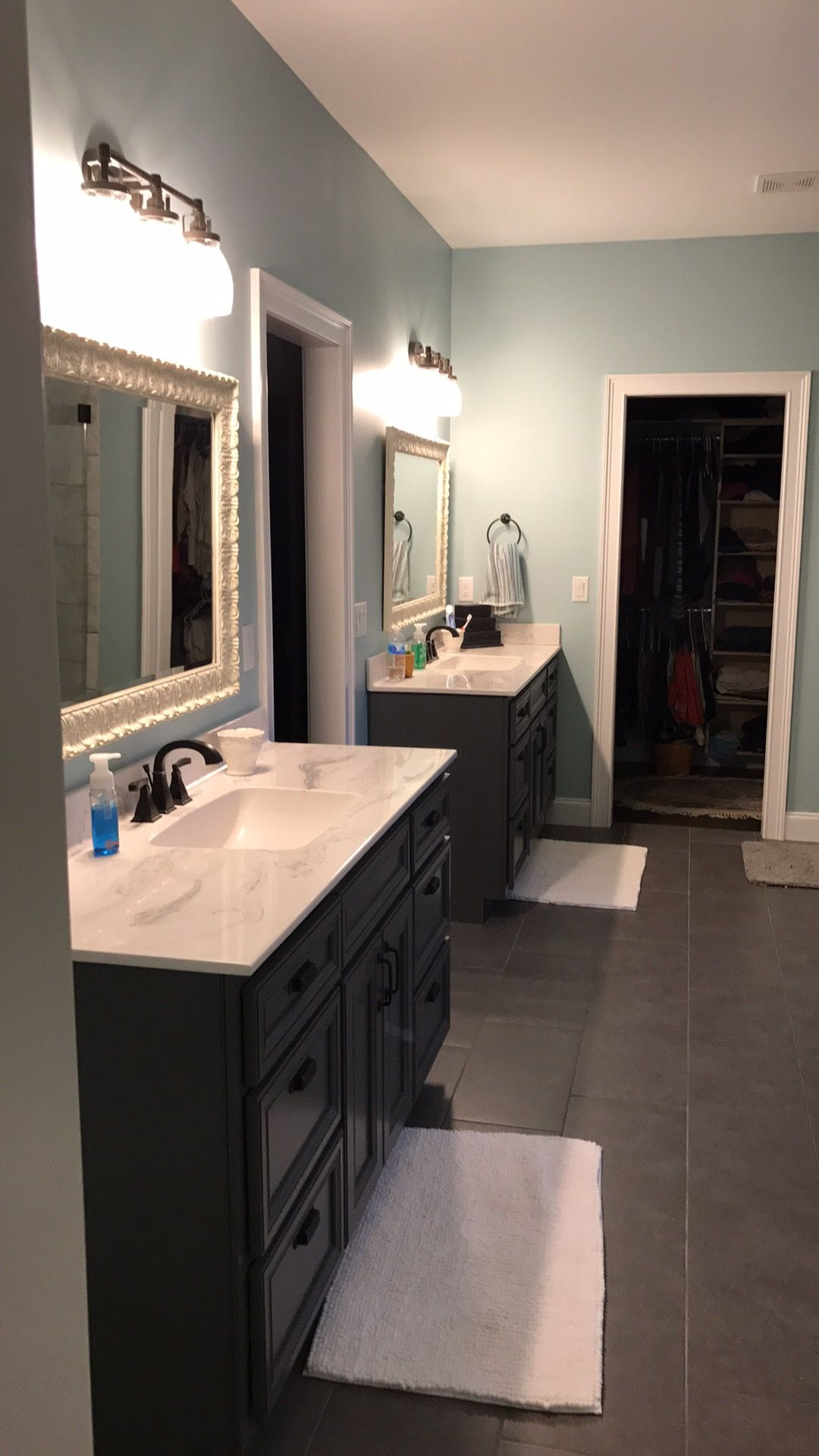 Cabinets Are Sherwin Williams Peppercorn Wall Color Is Sherwin Williams Watery Blue Kitchen Designs Kitchen And Bath Pantry Interior
