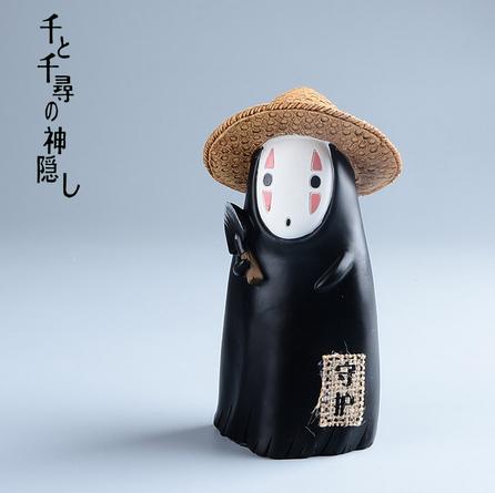 Japanese Studio ghibli No Face Kaonashi Chinchilla Bus Mononoke Money Box Miyazaki Hayao Anime Action Figures Piggy Bank Toys