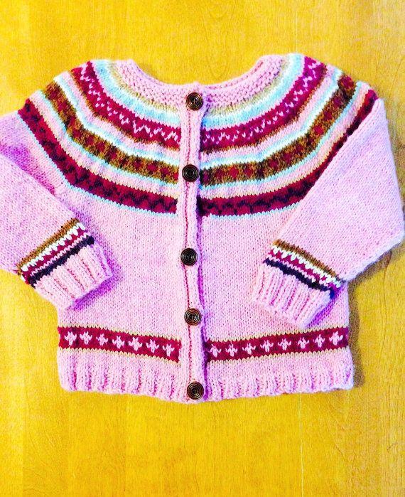 Fair Isle Sweater Size 5, Fair Isle Cardigan Sweater Size 6 - 8 ...