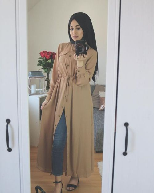 Long open cardigans hijab style \u2013 Just Trendy Girls in 2019