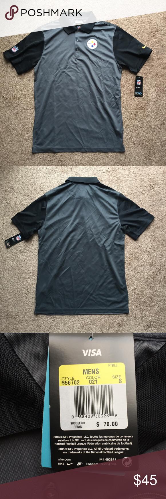 332eed94aa8 Nike Pittsburgh Steelers Dri-Fit Polo Small NWT Brand new