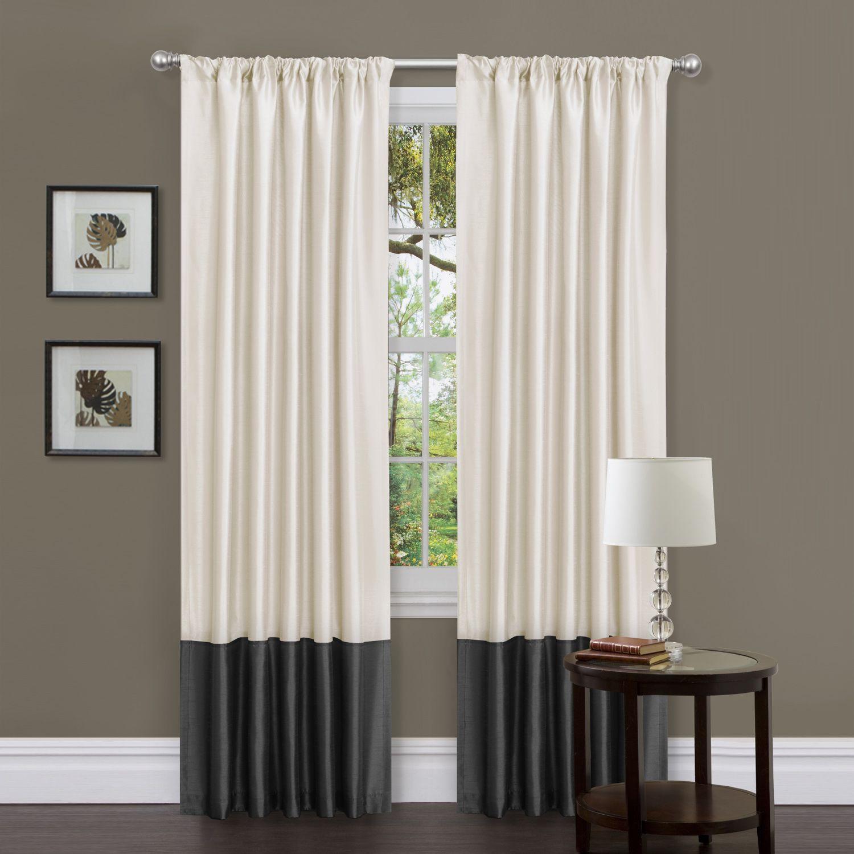 Lush Decor Milione Fiori Black White Window Curtains Pair Lush Decor Decor