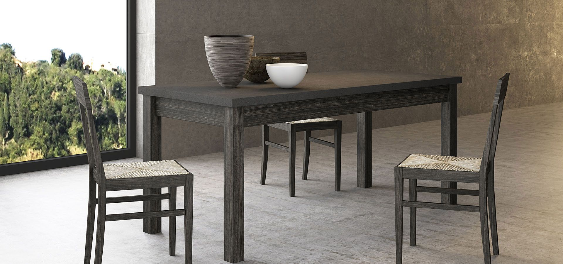 Minsk tavolo allungabile (prolunga da 40 cm), piano sp. 4 cm http ...