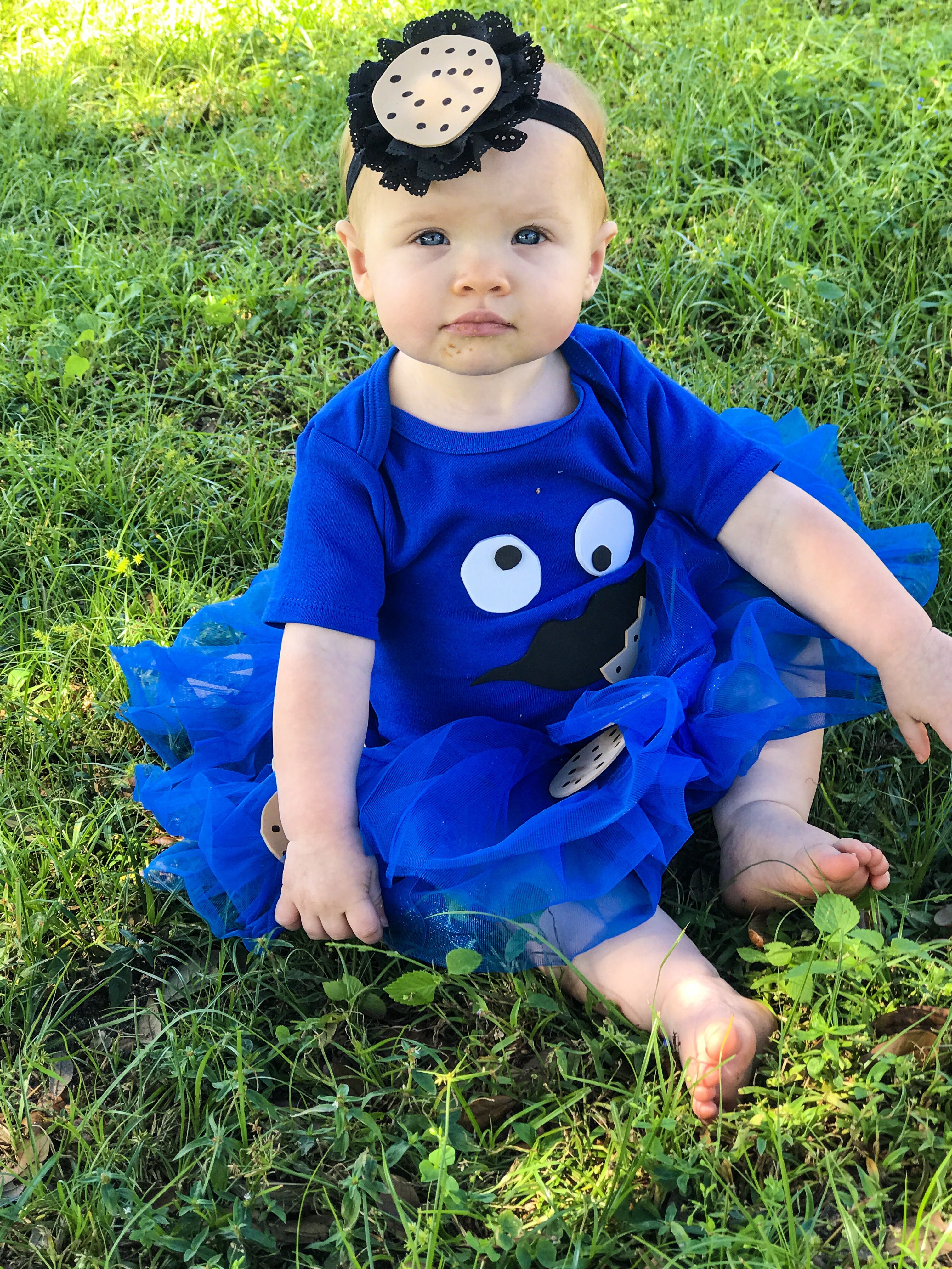 cookie monster halloween costume for 10 month old baby girl