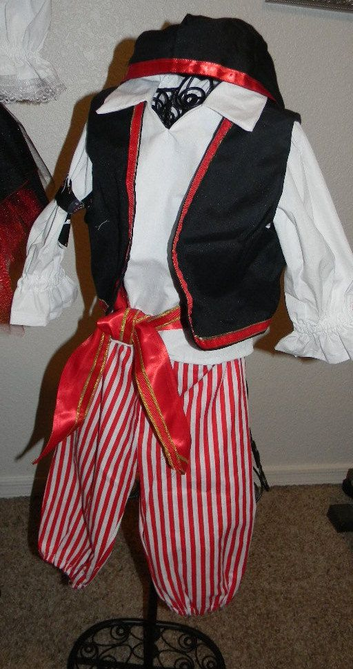 Little Boy Pirate with gold trim by Heartfeltcostumes on