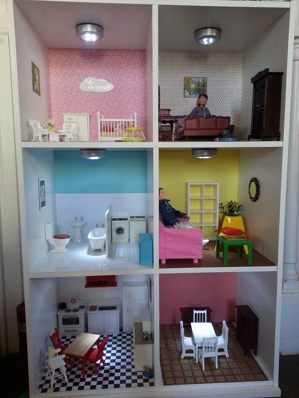 Blue Storage Kids Toy Box Playroom Furniture Bedroom Girls: Our Dollhouse From A Target Cubeical Cube Shelf Organizer