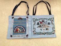 Tapestry : Rainbow Eastern Star Tapestry Tote Bag