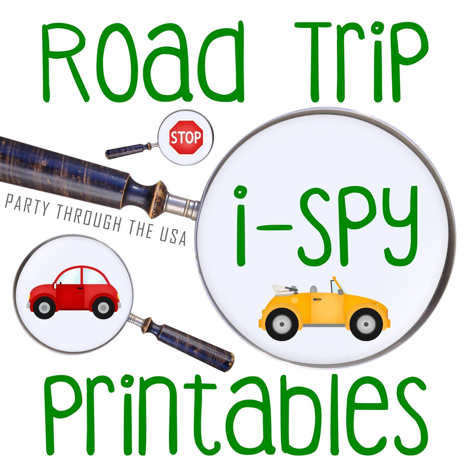 Road Trip Scavenger Hunt Printables