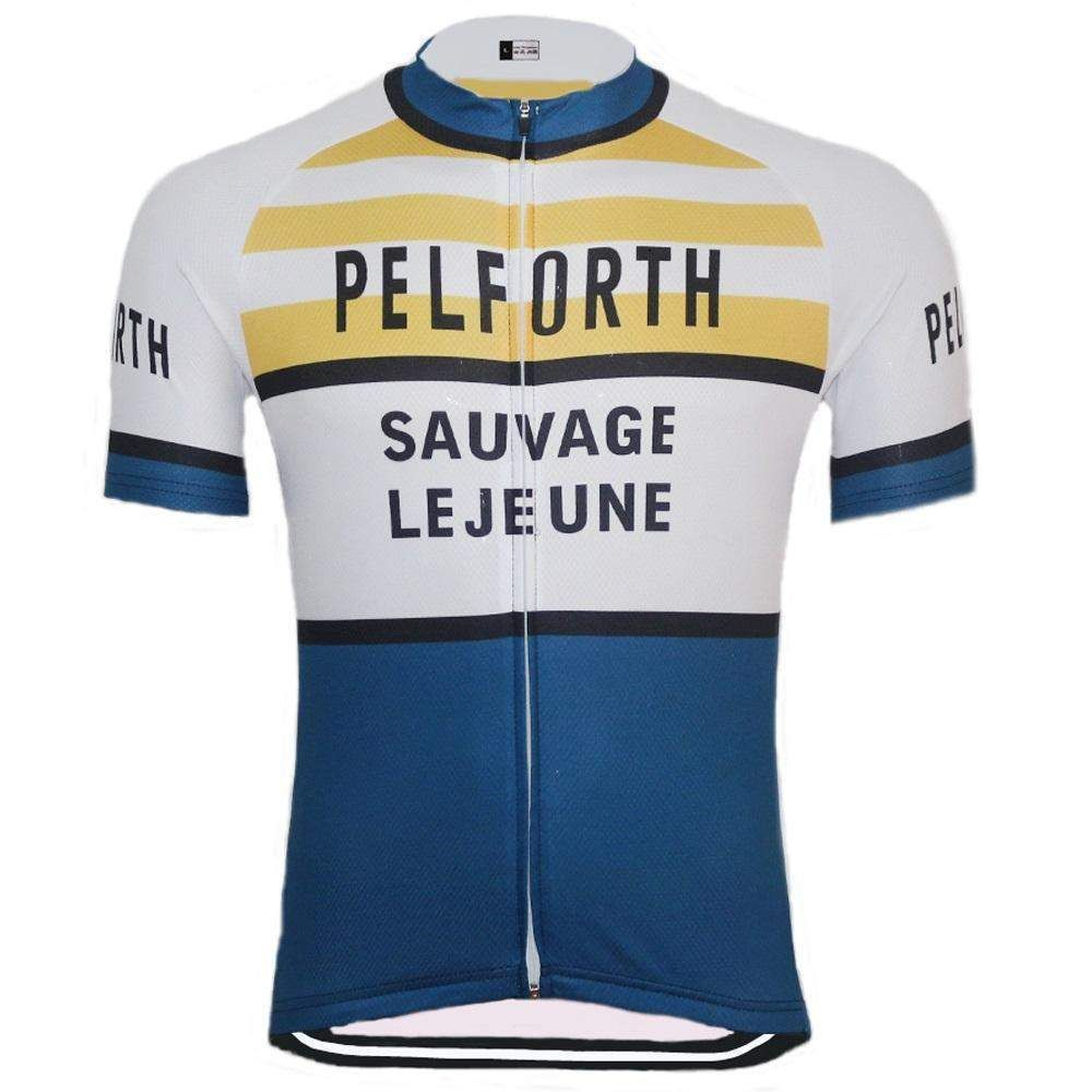 Retro Pelforth Sauvage Legeune Cycling Jersey Online Cycling Gear Free Shipping Lowest Prices In 2020 Cycling Jersey Cycling Gear Women S Cycling Jersey