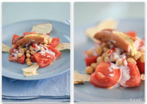 Insalata di #ceci con #pomodoro, #peperoni e #yogurt | @Iaia Guardo